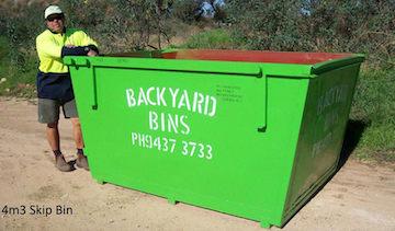 Our 4m³ skip bin