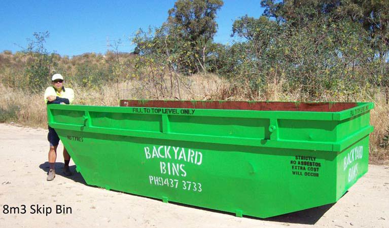 Our 8m³ skip bin