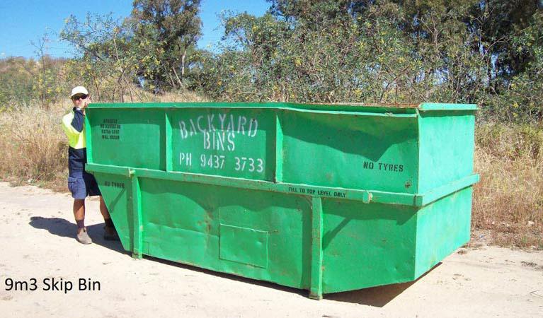 Our 9m³ skip bin