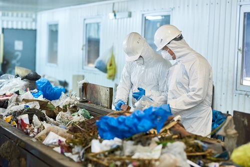 Rubbish Sorting At Waste Processing Plant