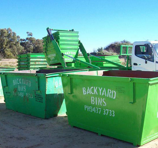 Backyard Bins delivery truck
