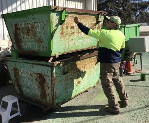 Rydall regularly repaints our skip bins