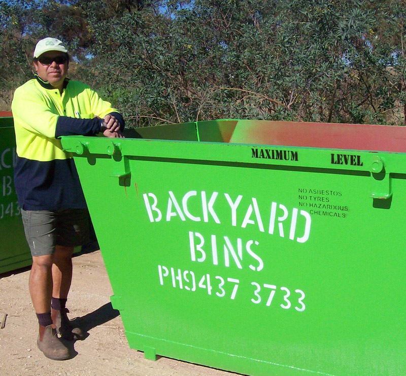 Rydall, owner of Backyard Bins