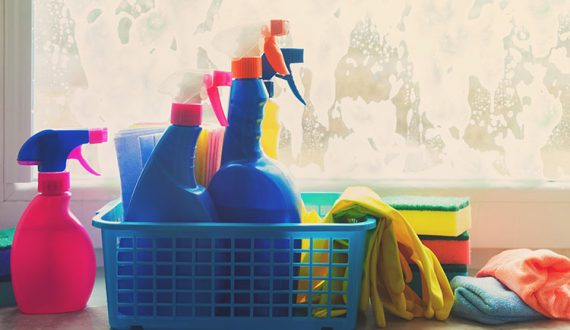 cleaning products for a home spring clean