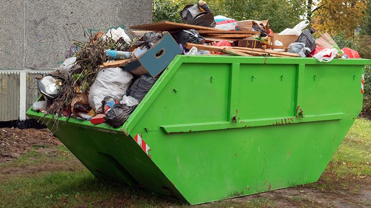 rental property with skip bin