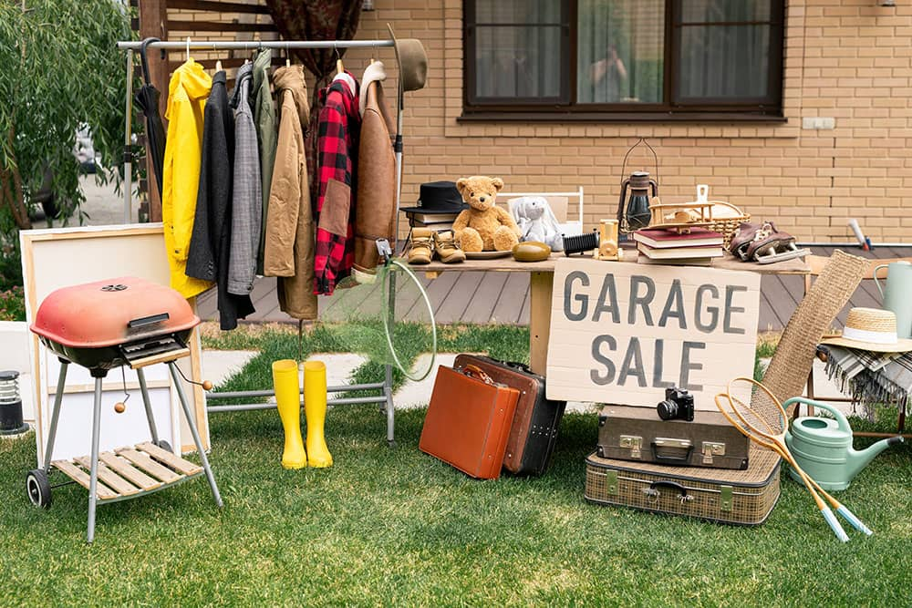 how to garage sale skip bin australia